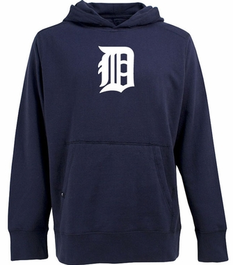 Detroit Tigers Big Logo Mens Signature Hooded Sweatshirt (Team Color: Navy)
