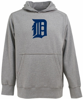 Detroit Tigers Big Logo Mens Signature Hooded Sweatshirt (Color: Gray)