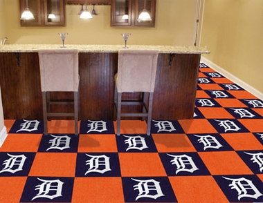 Detroit Tigers Carpet Tiles
