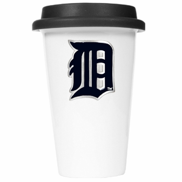 Detroit Tigers Ceramic Travel Cup (Black Lid)
