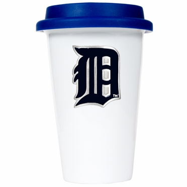 Detroit Tigers Ceramic Travel Cup (Team Color Lid)