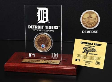 Detroit Tigers Comerica Park Infield Dirt Coin Etched Acrylic