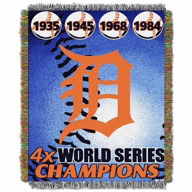 Detroit Tigers Commerative Jacquard Woven Blanket