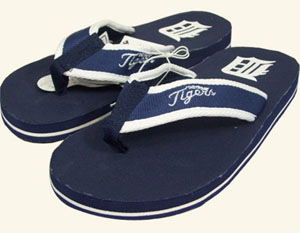 Detroit Tigers Contoured Flip Flop Sandals - Small