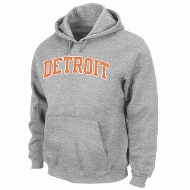 Detroit Tigers Cooperstown Cool Under Pressure Hooded Sweatshirt - Grey