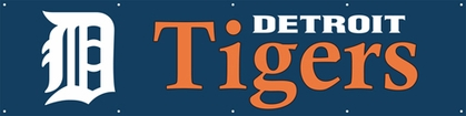 Detroit Tigers Eight Foot Banner