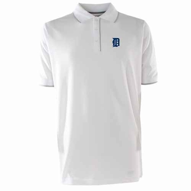 Detroit Tigers Mens Elite Polo Shirt (Color: White)
