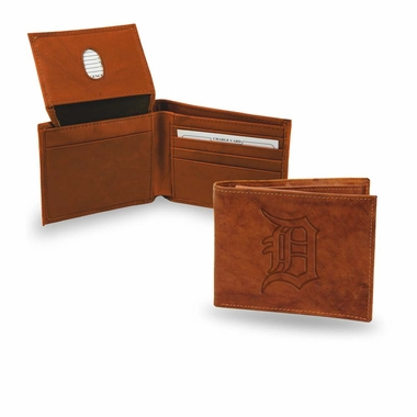 Detroit Tigers Embossed Leather Bifold Wallet