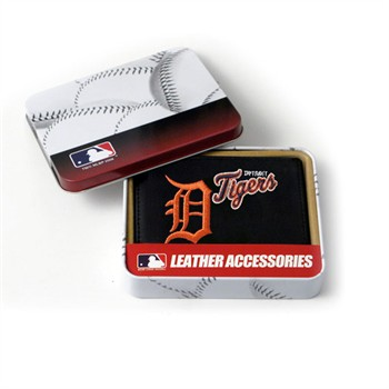 Detroit Tigers Embroidered Leather Tri-Fold Wallet