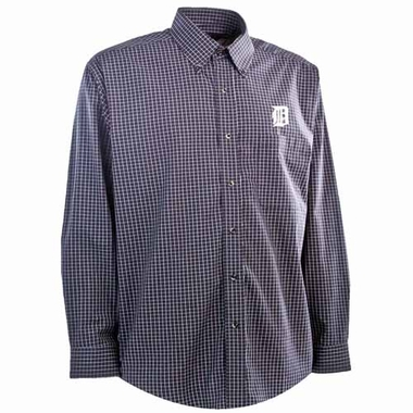 Detroit Tigers Mens Esteem Button Down Dress Shirt (Team Color: Navy)