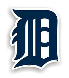 "Detroit Tigers 12"" Car Magnet"
