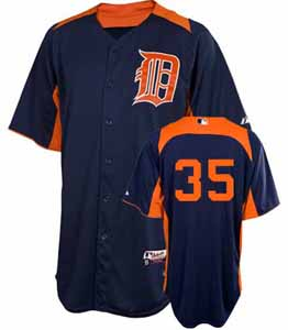 Detroit Tigers Justin Verlander YOUTH Batting Practice Jersey - Small