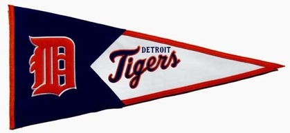 Detroit Tigers Large Wool Pennant
