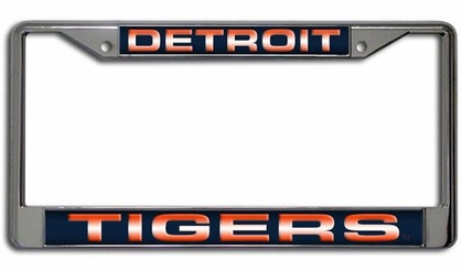 Detroit Tigers Laser Etched Chrome License Plate Frame