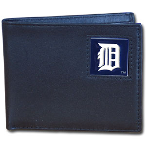 Detroit Tigers Leather Bifold Wallet (F)