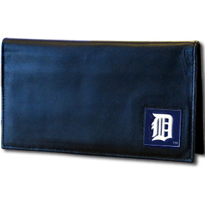 Detroit Tigers Leather Checkbook Cover