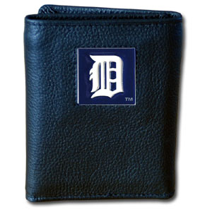Detroit Tigers Leather Trifold Wallet (F)