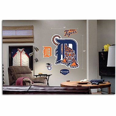 Detroit Tigers Logo Fathead Wall Graphic