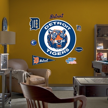 Detroit Tigers Logo (Throwback) Fathead Wall Graphic