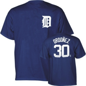 Detroit Tigers Magglio Ordonez YOUTH Name and Number T-Shirt - Medium