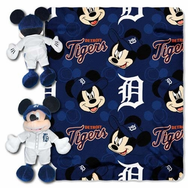 Detroit Tigers Mickey Hugger with Small Fleece Throw