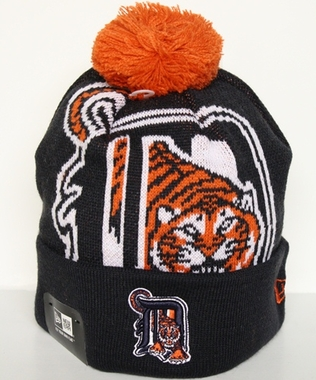 Detroit Tigers New Era Woven Biggie Cuffed Knit Hat