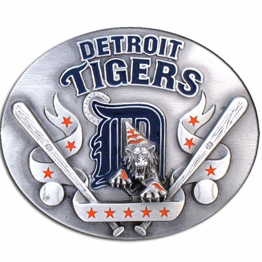 Detroit Tigers Enameled Belt Buckle