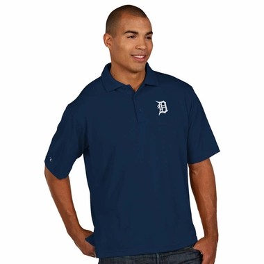 Detroit Tigers Mens Pique Xtra Lite Polo Shirt (Color: Navy)