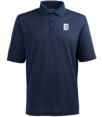 Detroit Tigers Mens Pique Xtra Lite Polo Shirt (Team Color: Navy)