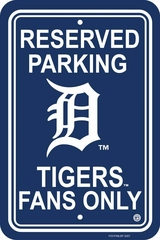 Detroit Tigers Plastic Parking Sign (P)