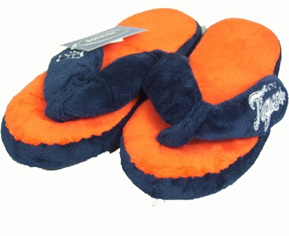Detroit Tigers Plush Thong Slippers