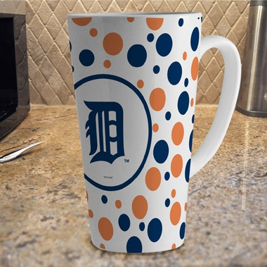 Detroit Tigers Polkadot 16 oz. Ceramic Latte Mug