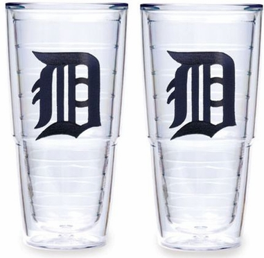 "Detroit Tigers Set of TWO 24 oz. ""Big T"" Tervis Tumblers"