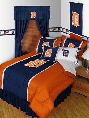 Detroit Tigers SIDELINES Jersey Material Comforter