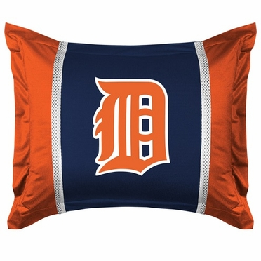 Detroit Tigers SIDELINES Jersey Material Pillow Sham