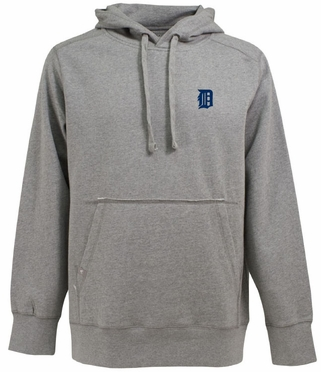Detroit Tigers Mens Signature Hooded Sweatshirt (Color: Gray)