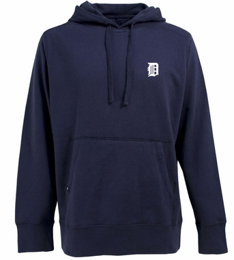 Detroit Tigers Mens Signature Hooded Sweatshirt (Team Color: Navy)