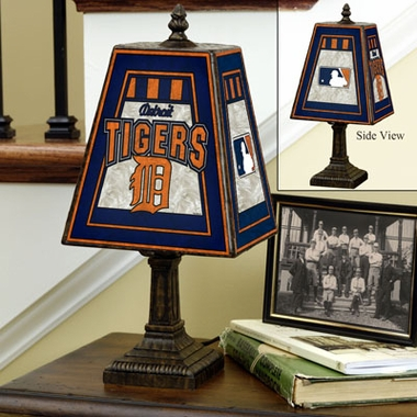 Detroit Tigers Small Art Glass Lamp