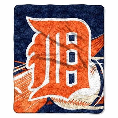 Detroit Tigers Super-Soft Sherpa Blanket