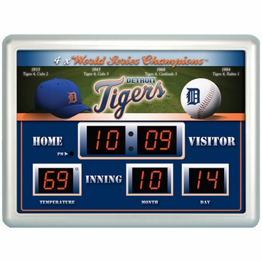 Detroit Tigers Time / Date / Temp. Scoreboard