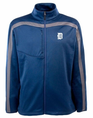 Detroit Tigers Mens Viper Full Zip Performance Jacket (Team Color: Navy)