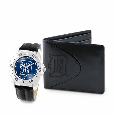 Detroit Tigers Watch and Wallet Gift Set