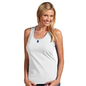 Detroit Tigers Womens Sport Tank Top (Color: White) - Medium