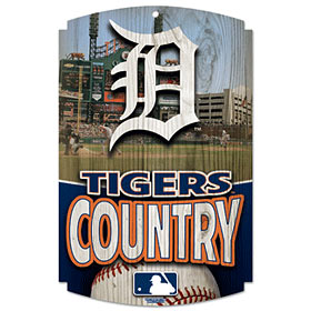 Detroit Tigers Wood Sign - Country