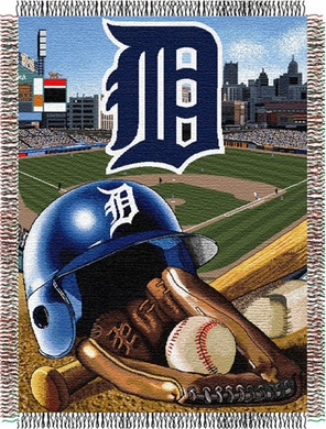 Detroit Tigers Woven Tapestry Throw Blanket