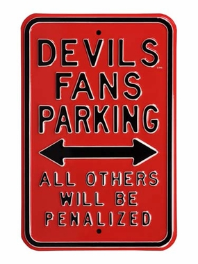 Devils Fans / Penalized Parking Sign