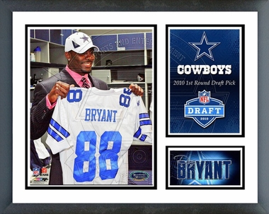 Dez Bryant 2010 Draft Pick Framed Milestones & Memories