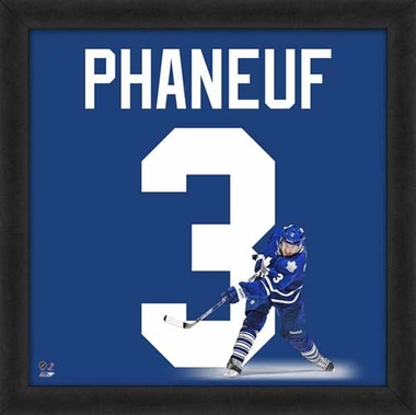 "Dion Phaneuf, Maple Leafs UNIFRAME 20"" x 20"""