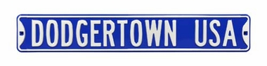 Dodgertown Usa Street Sign