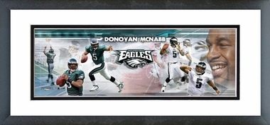 Donovan McNabb - Framed / Double Matted Photoramic